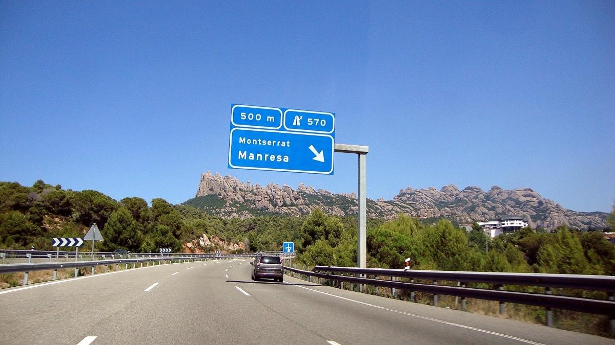 L'autovia, en el seu pas pel poble FOTO: Mapio
