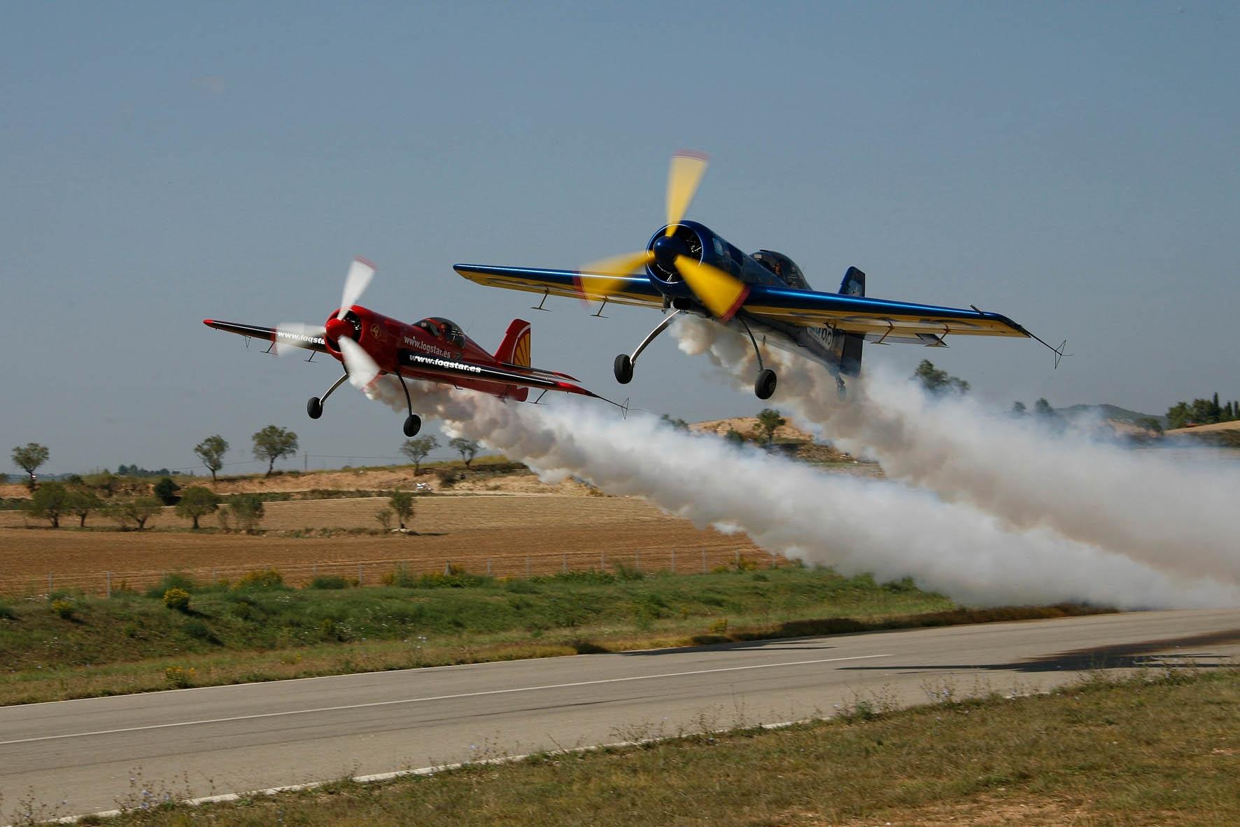 Una de les exhibicions a la fira Aerosport - foto Santi Carbonell