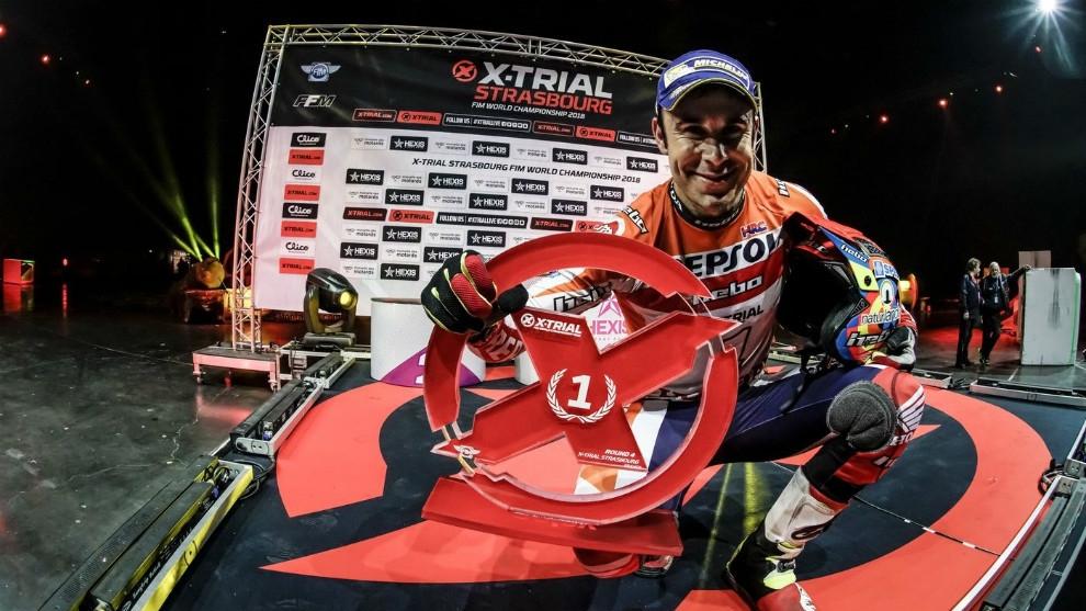 Toni Bou, després de guanyar a Estrasburg FOTO: Repsol Honda