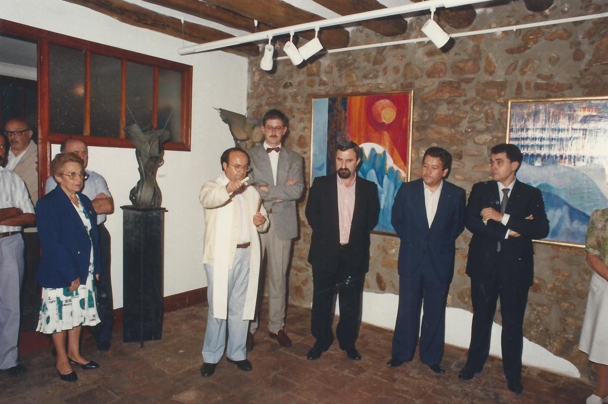 Inauguració de la galeria, el 22 de setembere de 1989