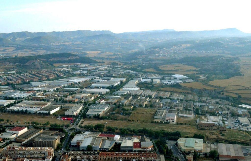 Vista aèria de Les Comes, el polígon d'Igualada FOTO: Ràdio Igualada