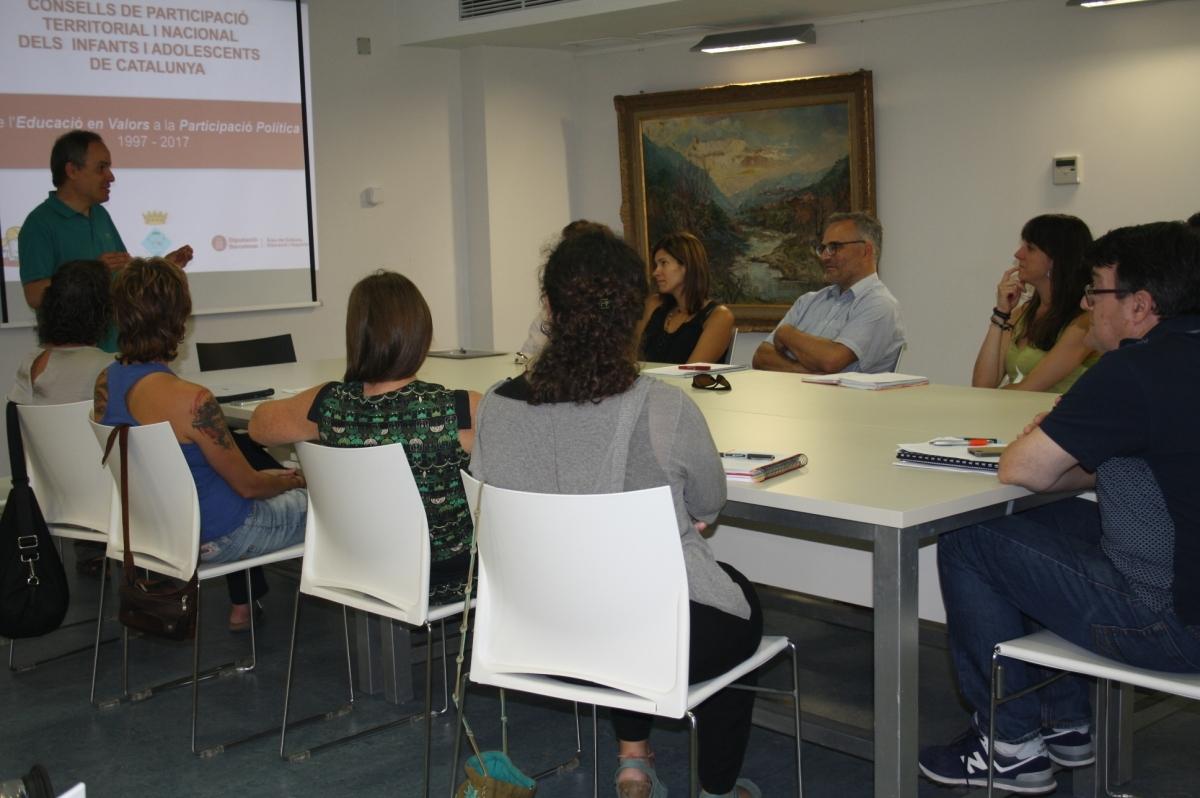 La sessió de presentació del projecte a Capellades