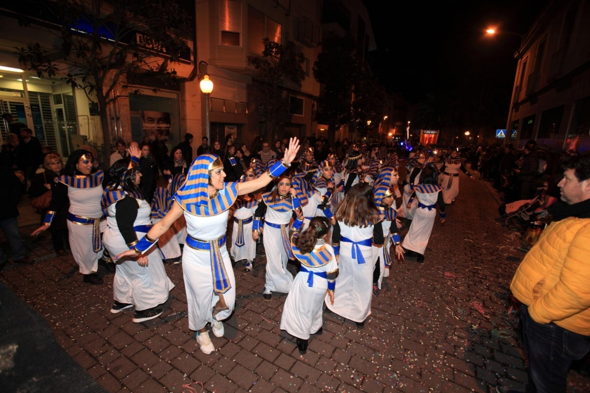 Una de les comparses del Carnaval del 2016 a Igualada