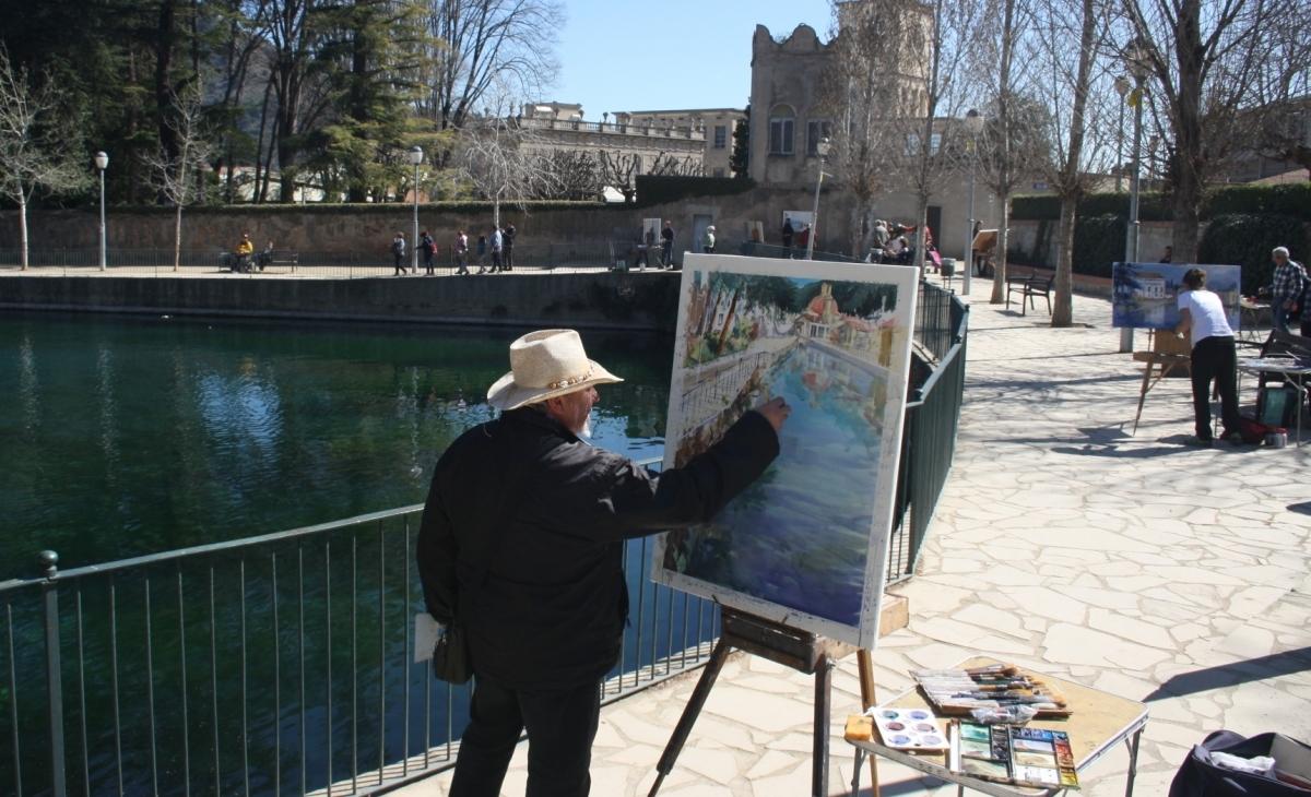 El Concurs de Pintura Ràpida, un dels ingredients de la jornada