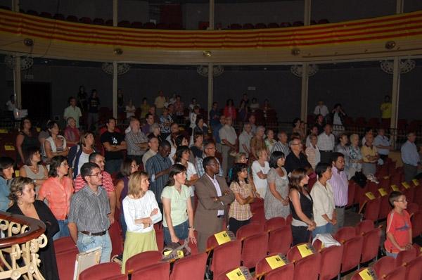 Prop de 150 persones han seguit l'acte organitzat per Òmnium