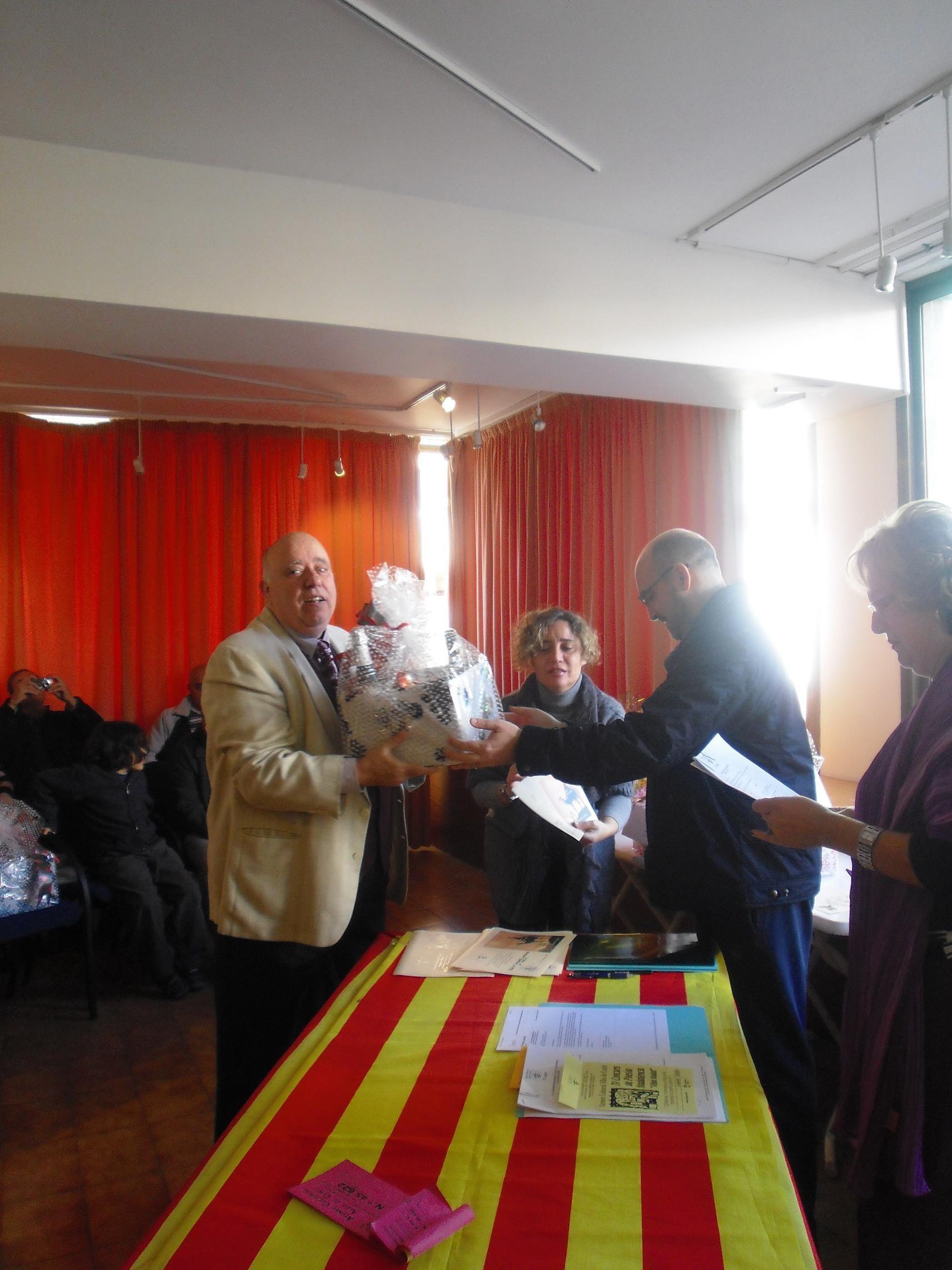 Entrega del premi a LLeonard del Rio