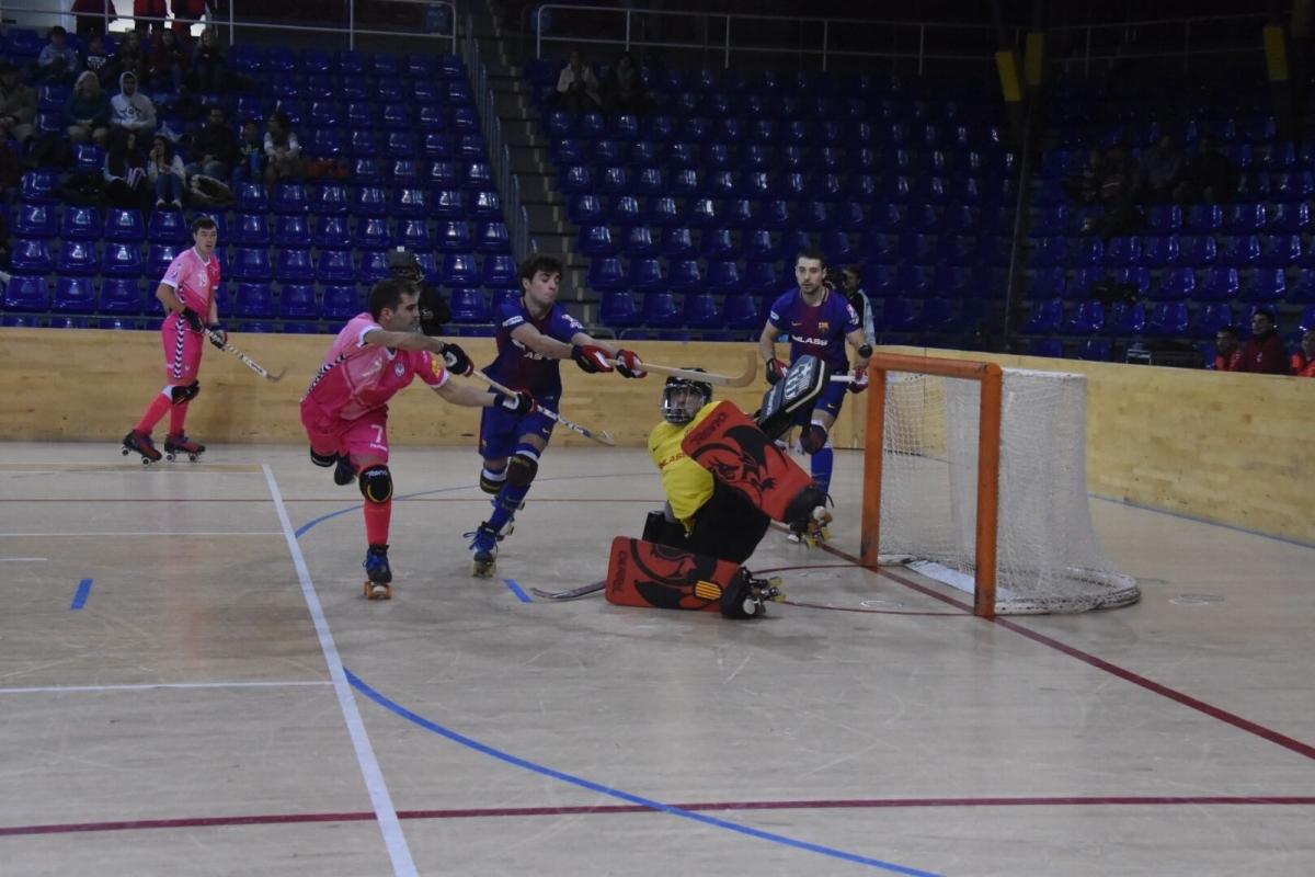 L'Igualada va fer un gran partit contra el Barça (Foto: Xavi Garcia)