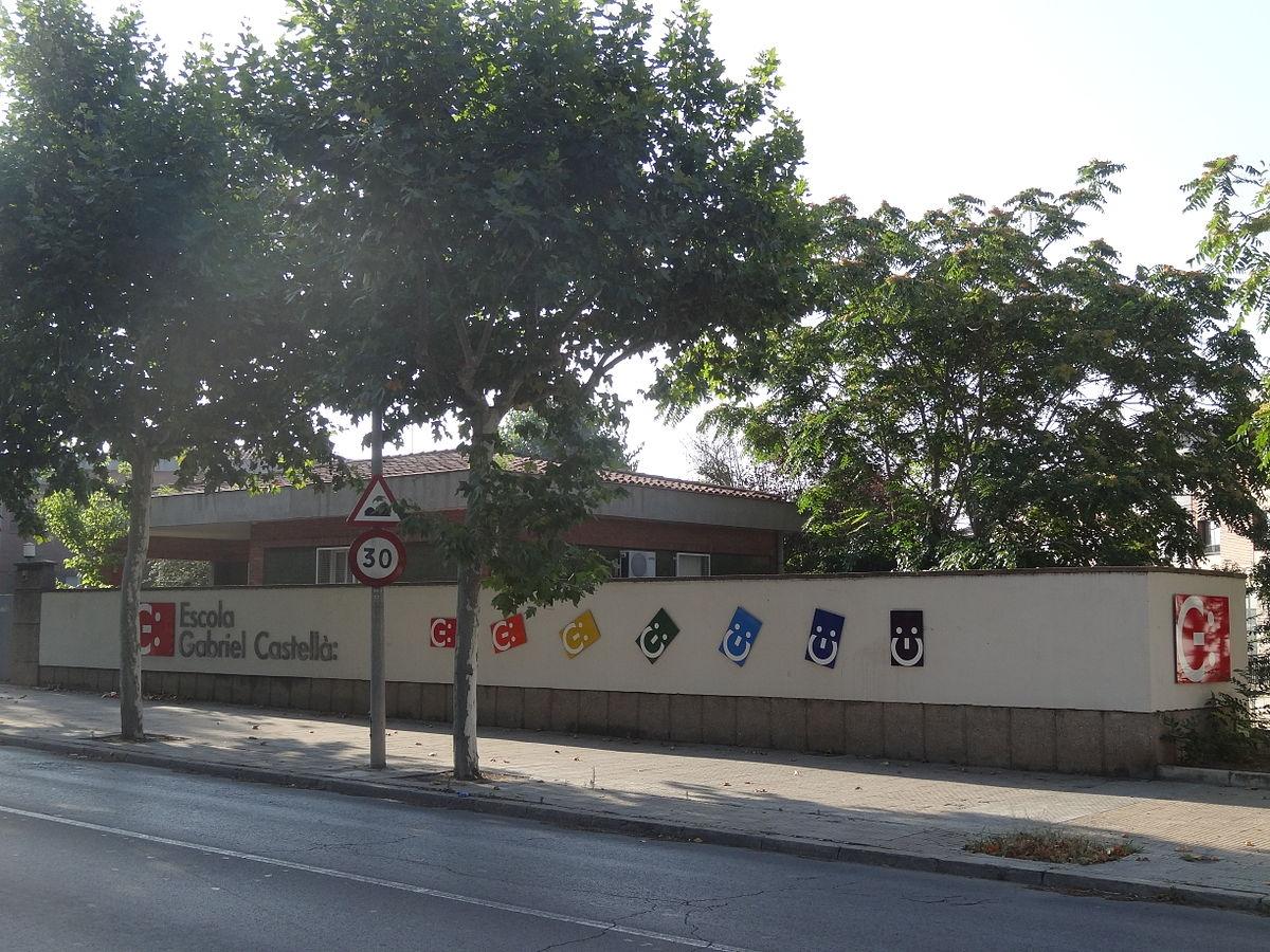 El CEIP Gabriel Castellà, a l'Avinguda Montserrat