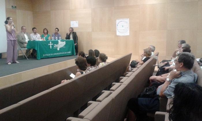 La taula de professionals, a la sala de Mont-Àgora