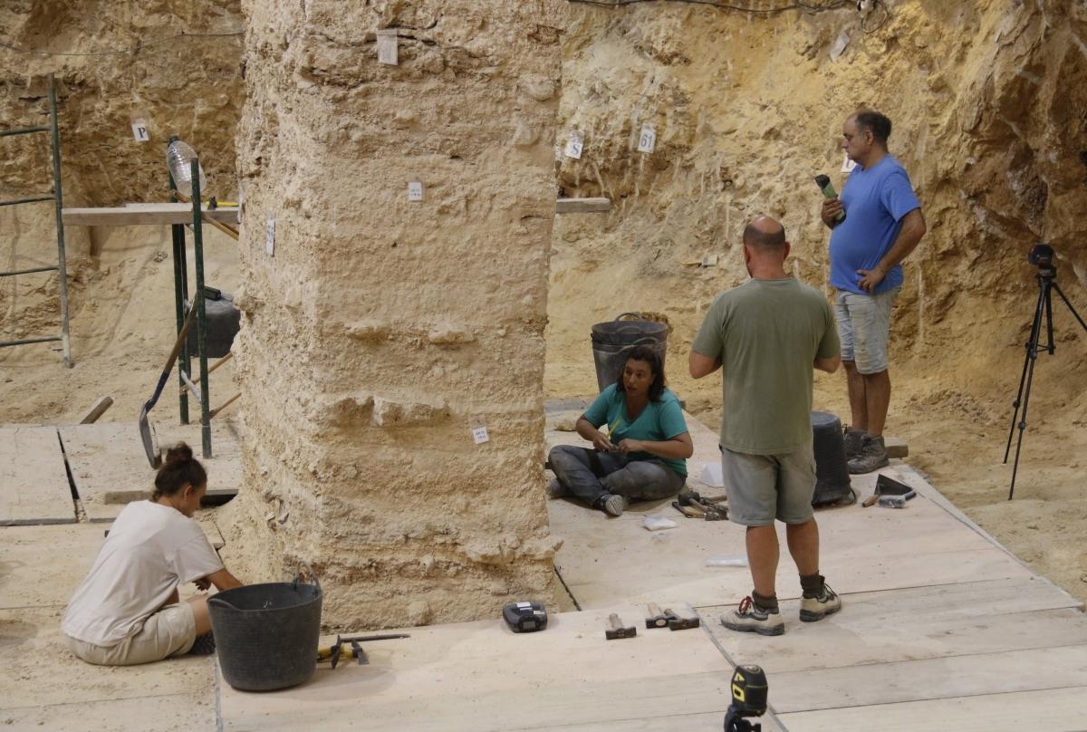 Una imatge de les excavacions del 2019