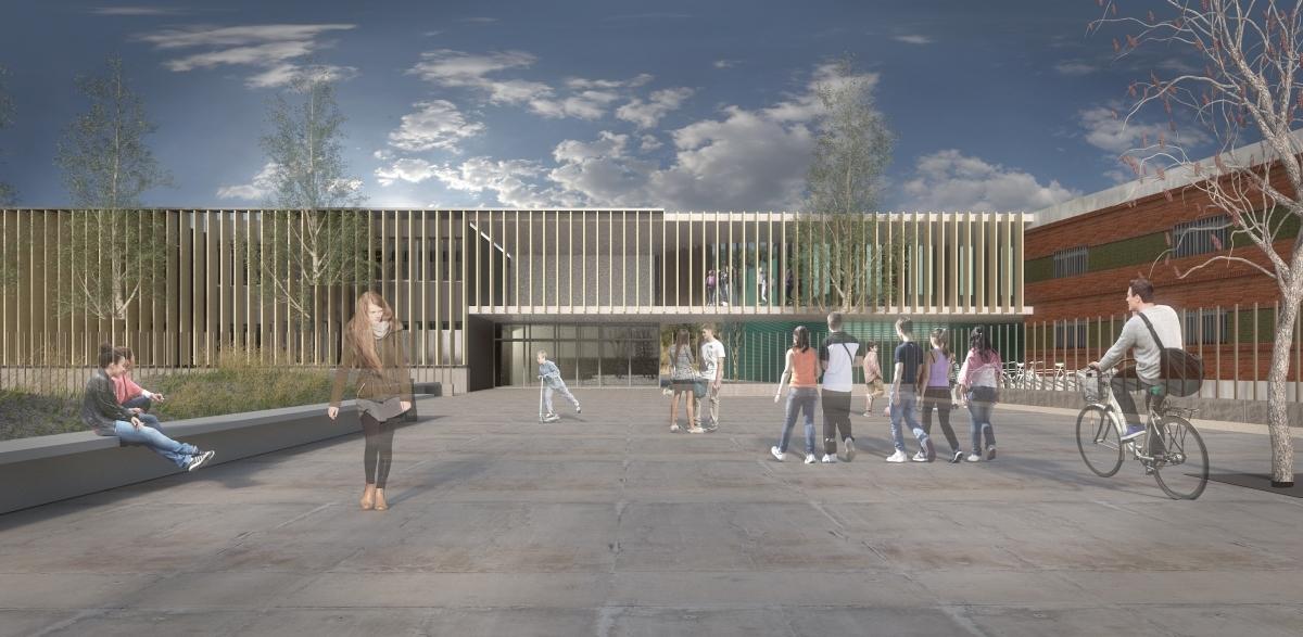 Una recreació virtual d'un dels projectes per fer el nou Badia i Margarit
