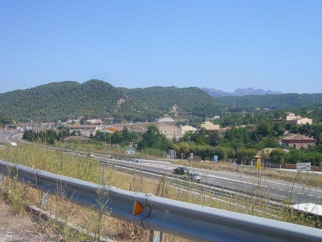L'autovia, al seu pas per Castellolí, és un autèntic punt negre