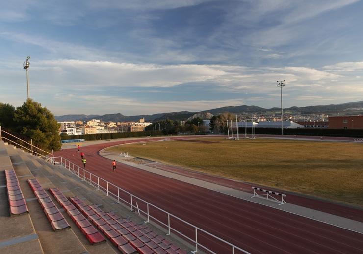 L'Estadi Atlètic, a la zona del Puigcornet