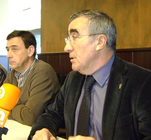 Pere Carles (president) i Martí Marsal (gerent) de Fira d'Igualada