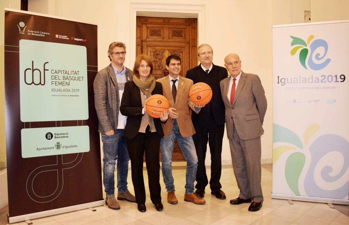 El batlle, amb Jordi Balsells, Joan Fa, Enric Prats i Rosa Plassa