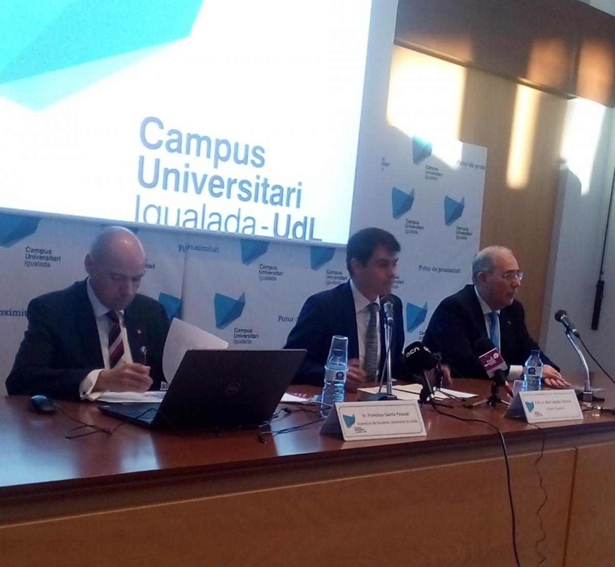 Paco García, Marc Castells i Roberto Fernández, al Campus
