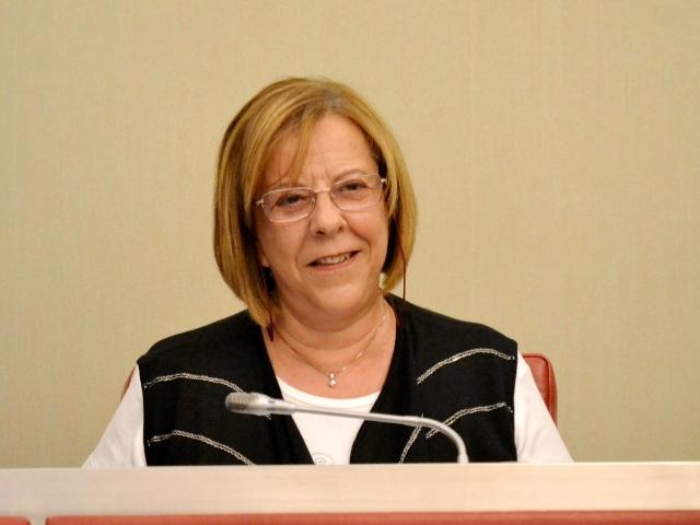Rosa Maria Sánchez durant la seva intervenció