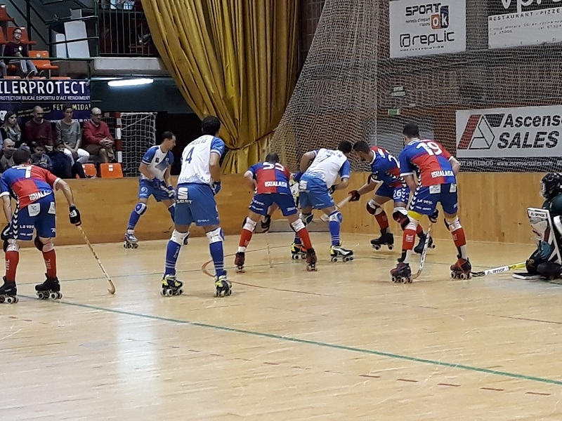 Instantània del partit jugat a Lleida aquest diumenge