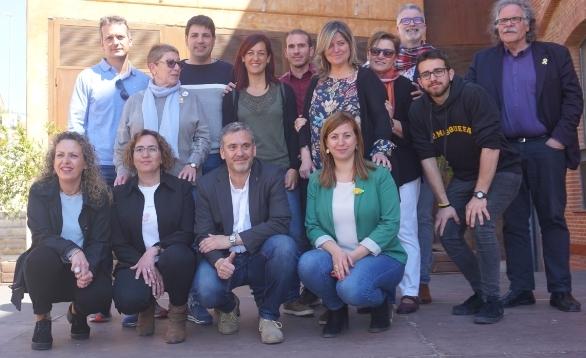 La candidatura, amb Joan Tardà a la dreta