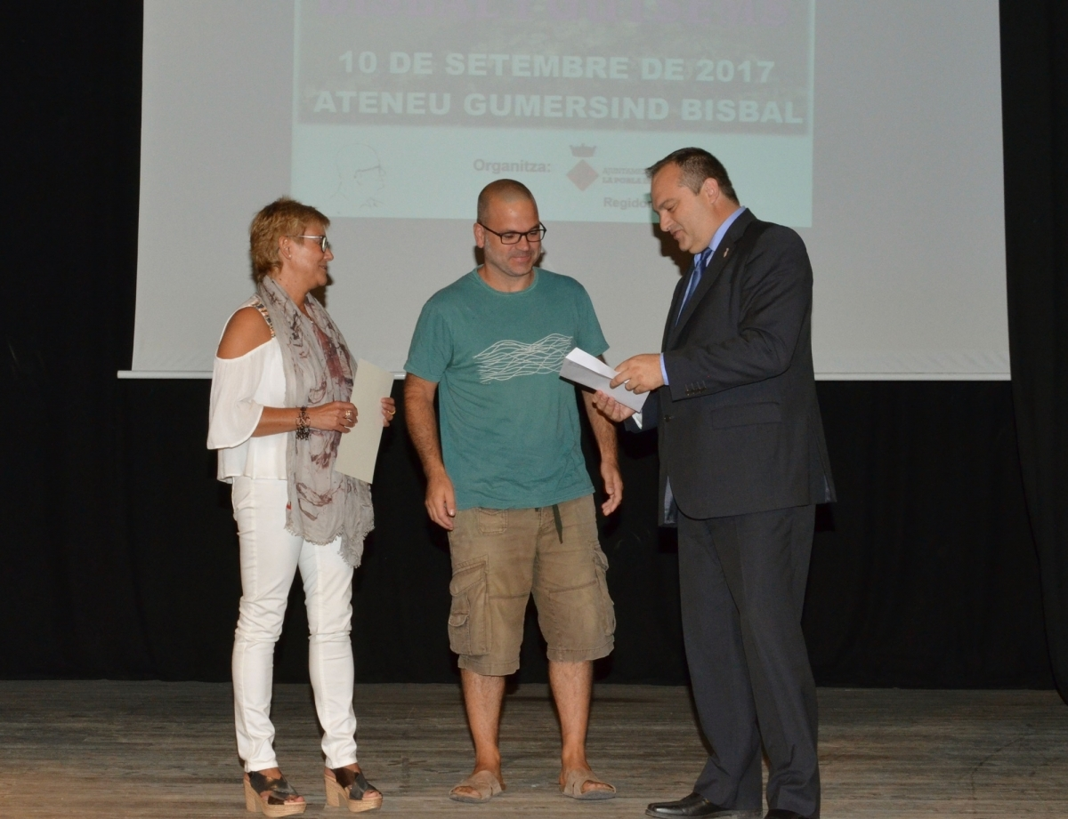 El lliurament del Premi Gumersind Bisbal el 2017