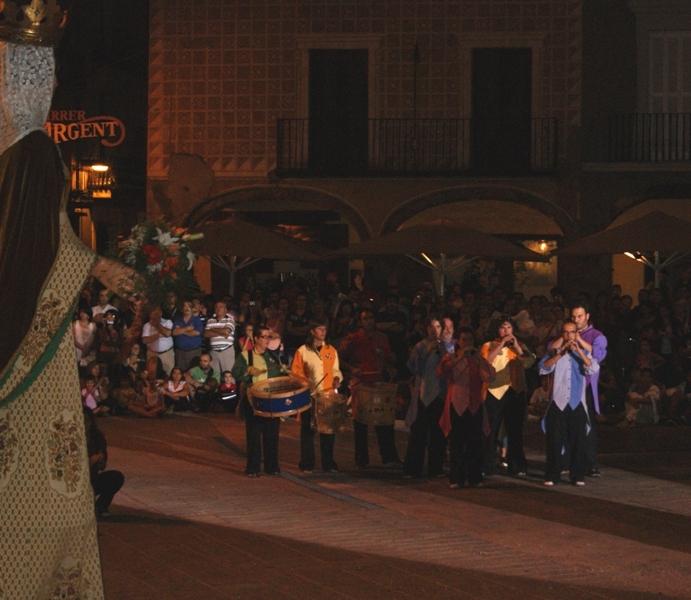 Els grallers d'Igualada, a la cercavila del Sant de dijous
