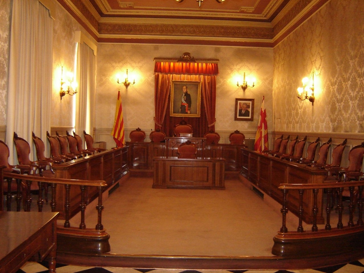 L'antiga Sala de Plens, on es va celebrar el casament FOTO: AFMI