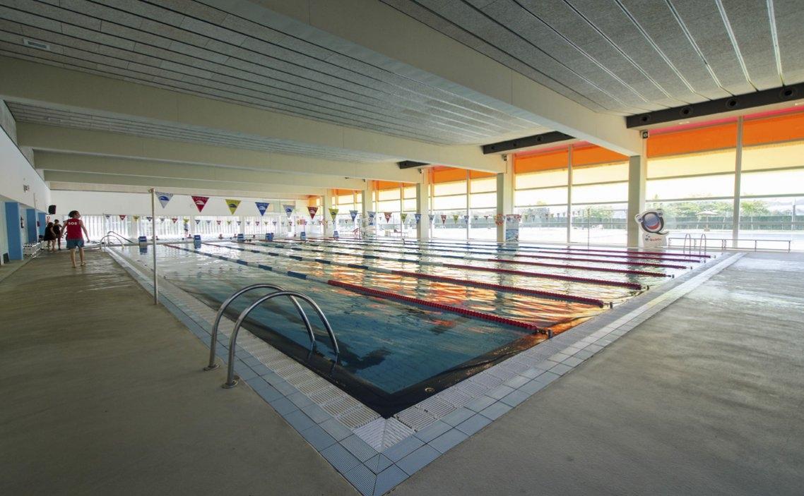 La piscina interior del complex, estrenat el 2009