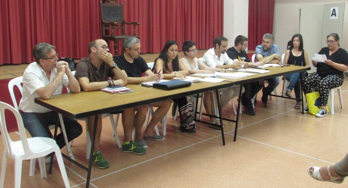 Els nou representants del ple de Vallbona, en la sessió de dimecres
