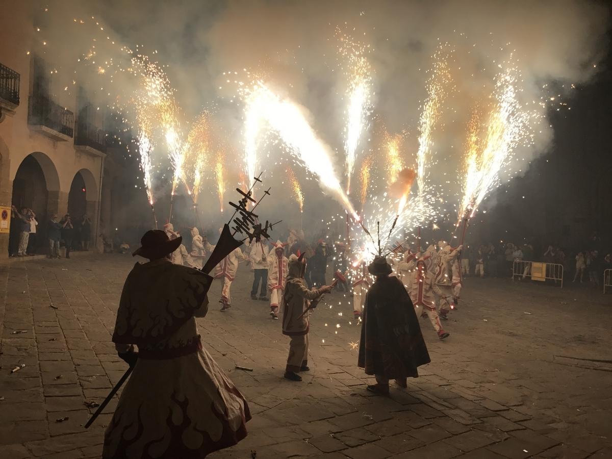 Els Diables van deixar una empremta de foc a la vila