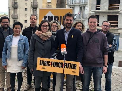 Una fotografia de l'equip d'ERC, abans de les eleccions municipals