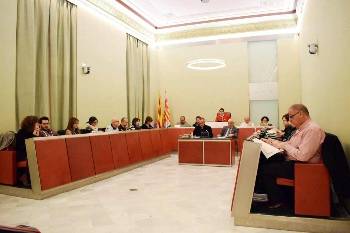 El ple d'aquest dimarts al vespre, en el que es va tractar la moció favorable al 8-M