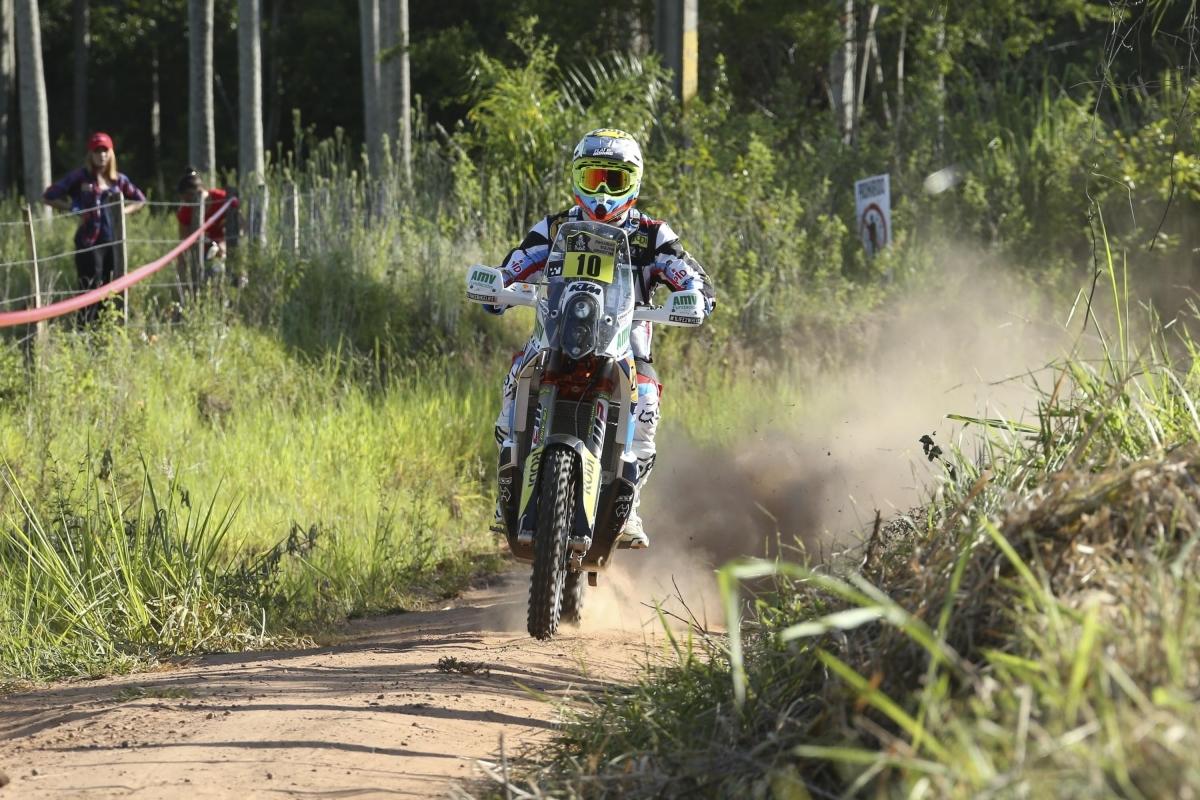 Monleón, en el seu recorregut durant l'etapa de dilluns
