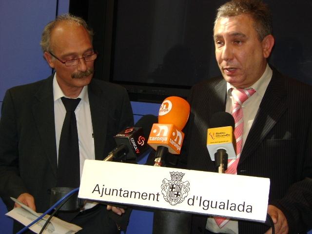 Jordi Aymamí i Carles Mernissi, regidor de noves tecnologies de Masquefa