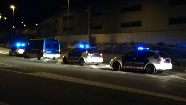 Les patrulles dels Mossos d'aquest dimecres FOTO: CDR
