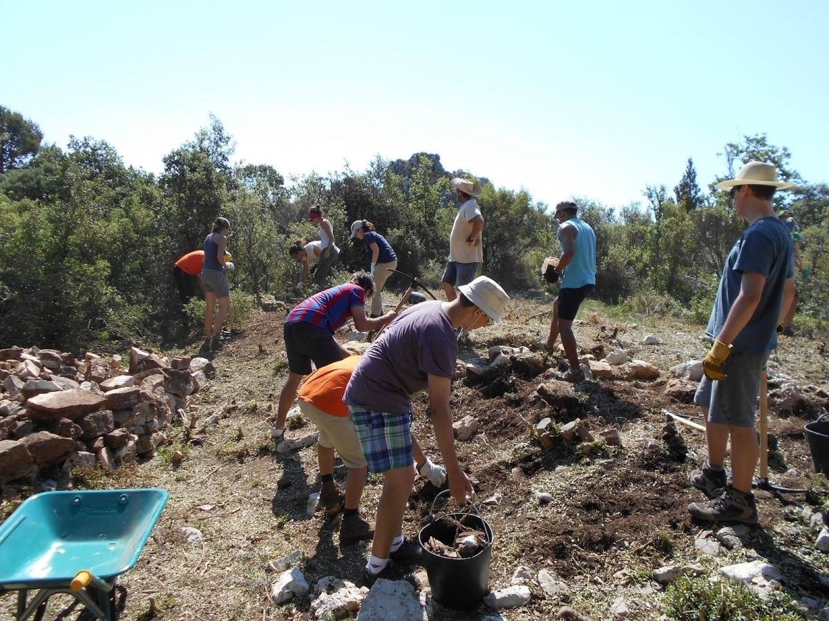 Imatge de la campanya d'excavacions del 2015