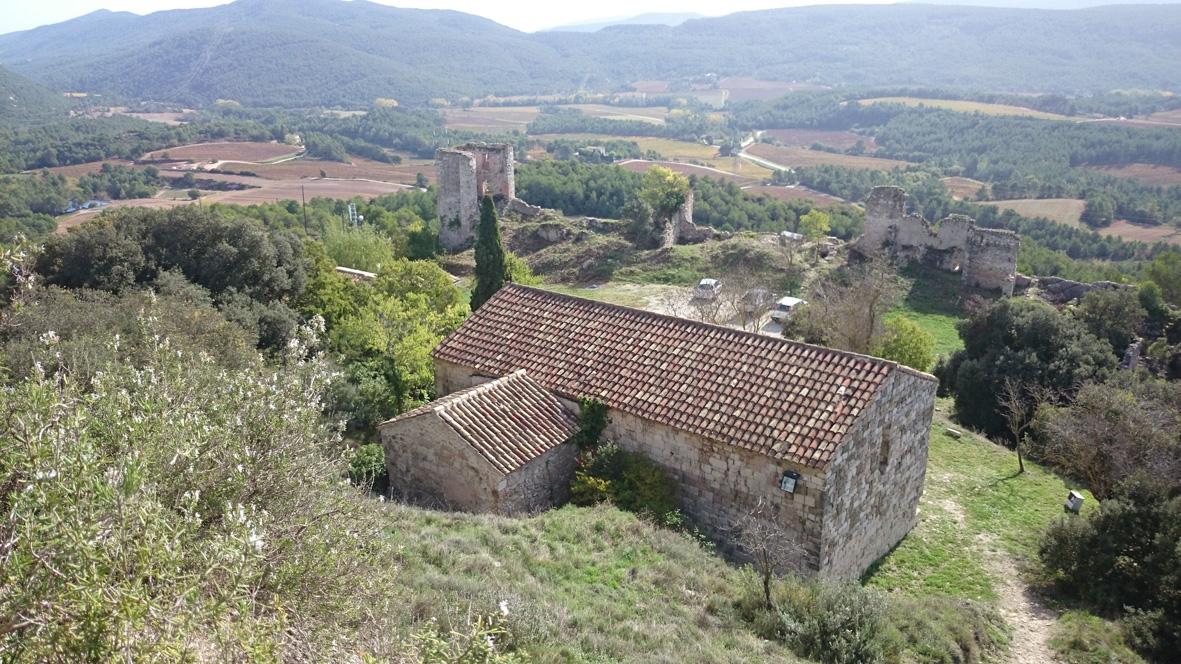 Vista aèria de la zona on s'eleva el castell