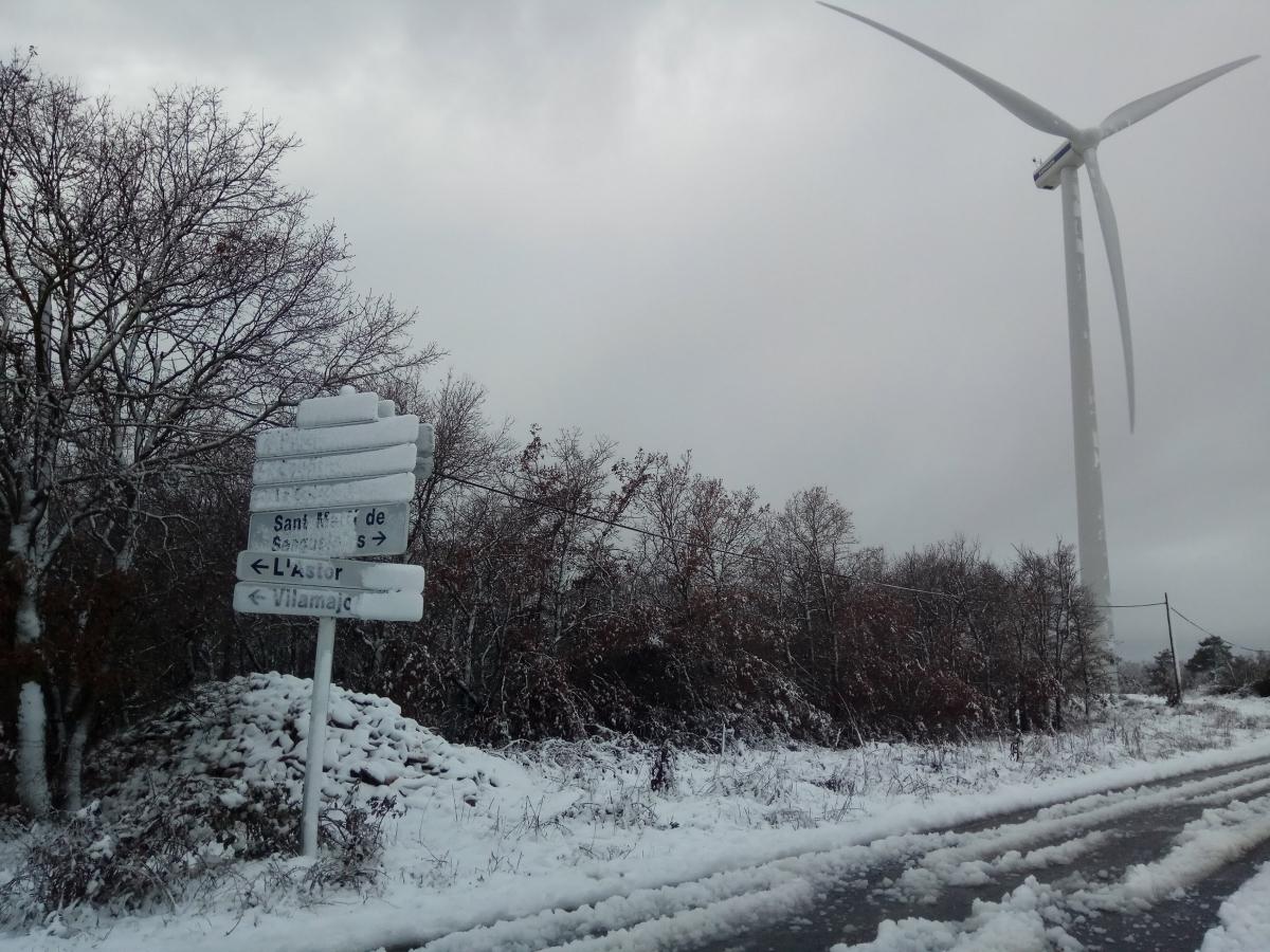 La neu es pot veure encara a diversos racons del terme de Pujalt FOTO: Observatori de Pujalt