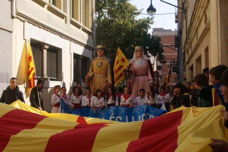 La manifestació va recórrer els carrers d'Igualada