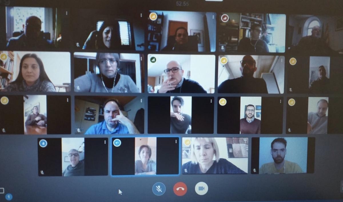 Una sessió telemàtica del govern del Consell