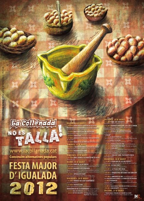 Cartell de la Coll@nada per la Festa Major '12