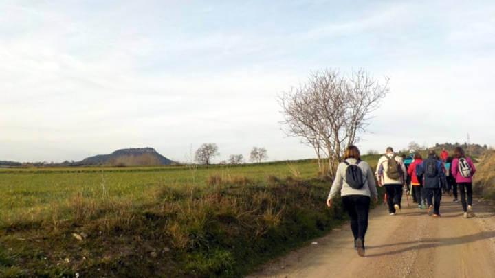 El pas de la Caminada, cap a Montbui