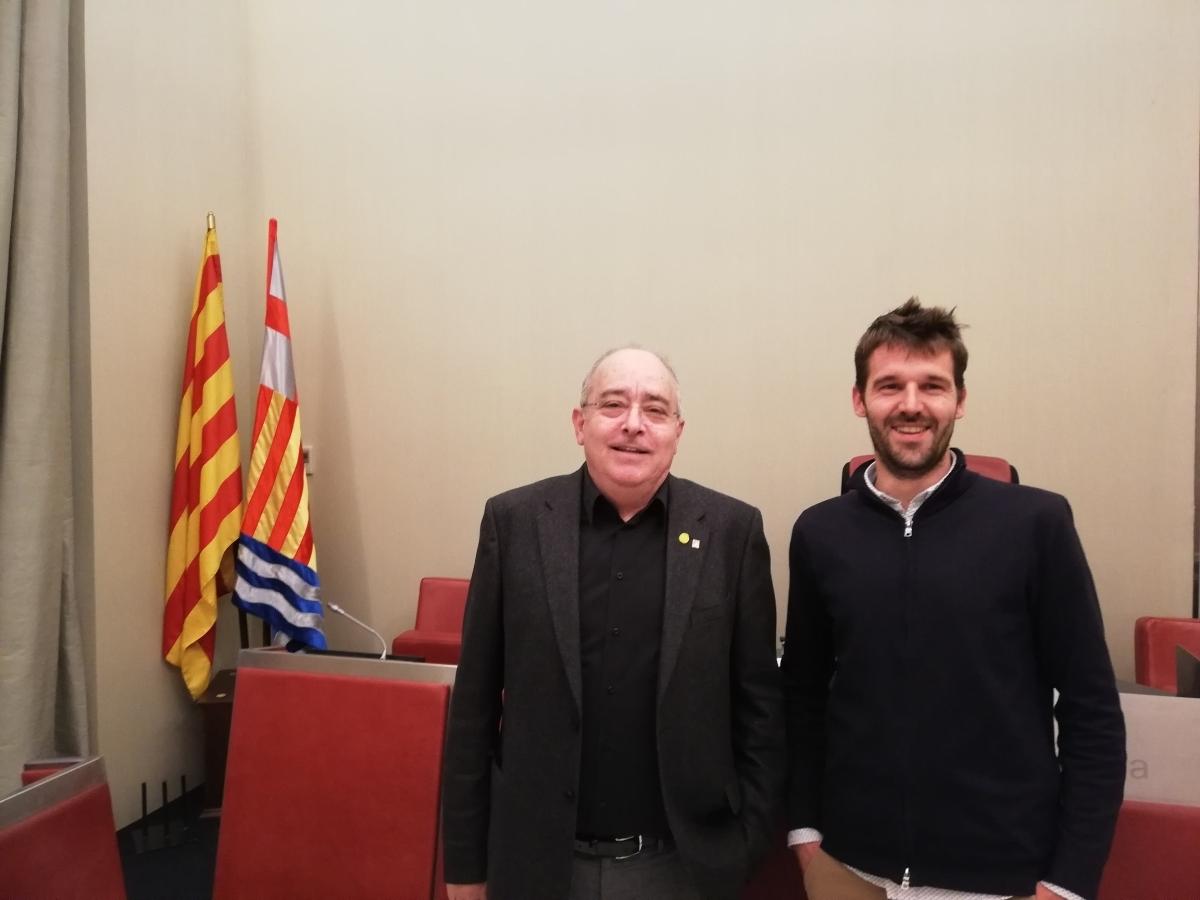 Bargalló i Conill, al Saló de Sessions