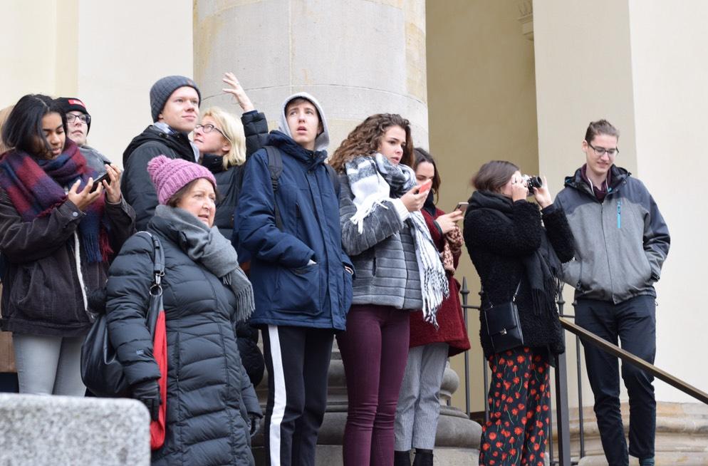 Foto de grup dels alumnes desplaçats a Berlín