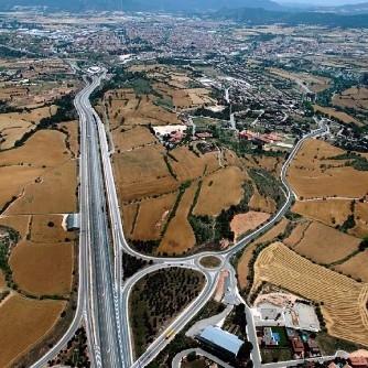 Vista aèria de la zona del polígon Igualada-Jorba-Òdena