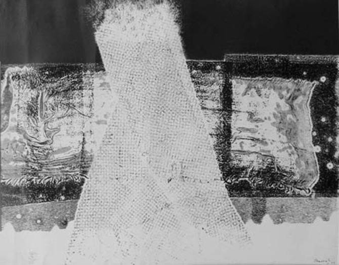 Una de les maculatures de Tharrats que es podran veure a l'exposició