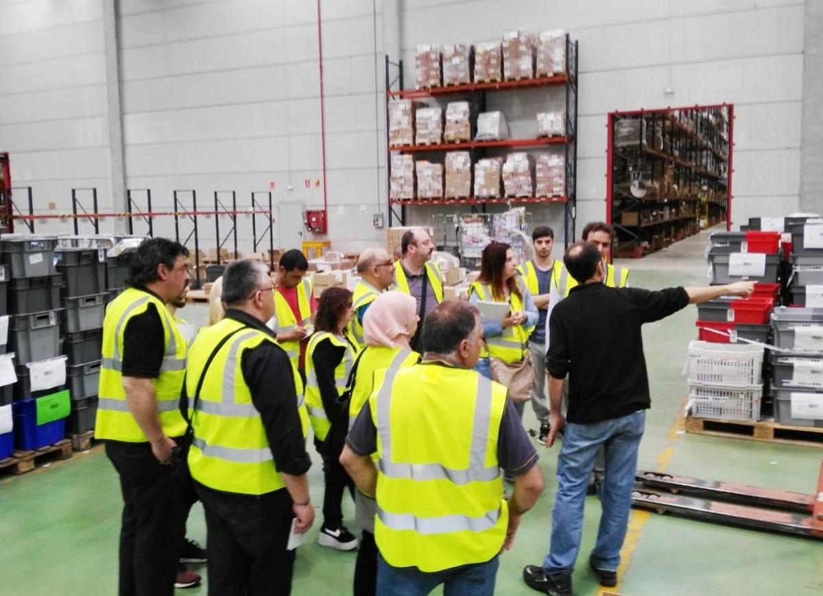 Imatge d'una sessió formativa en el sector logístic