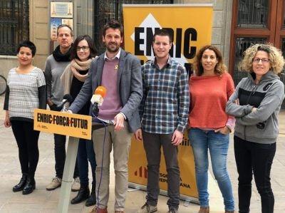Els membres de la candidatura d'ERC, fa un any