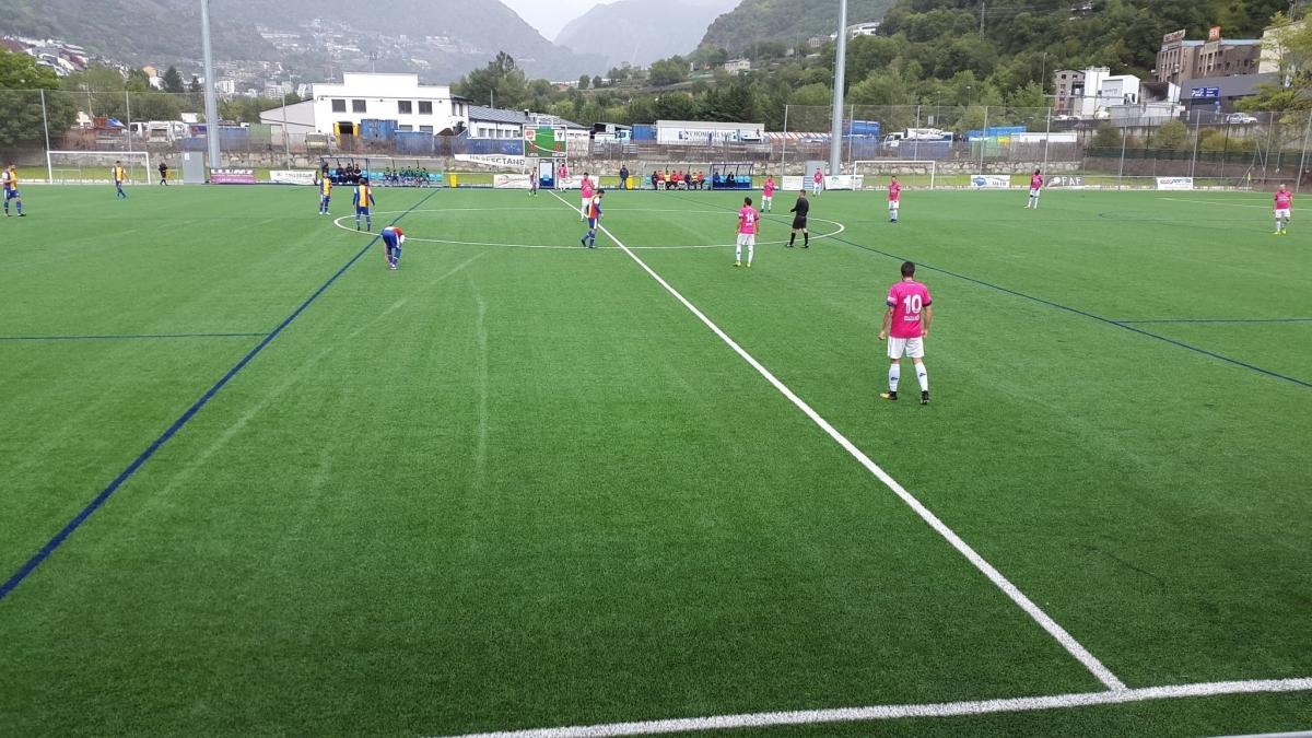 El segon matx de l'any, a l'estadi Borda Mateu FOTO: FC Andorra