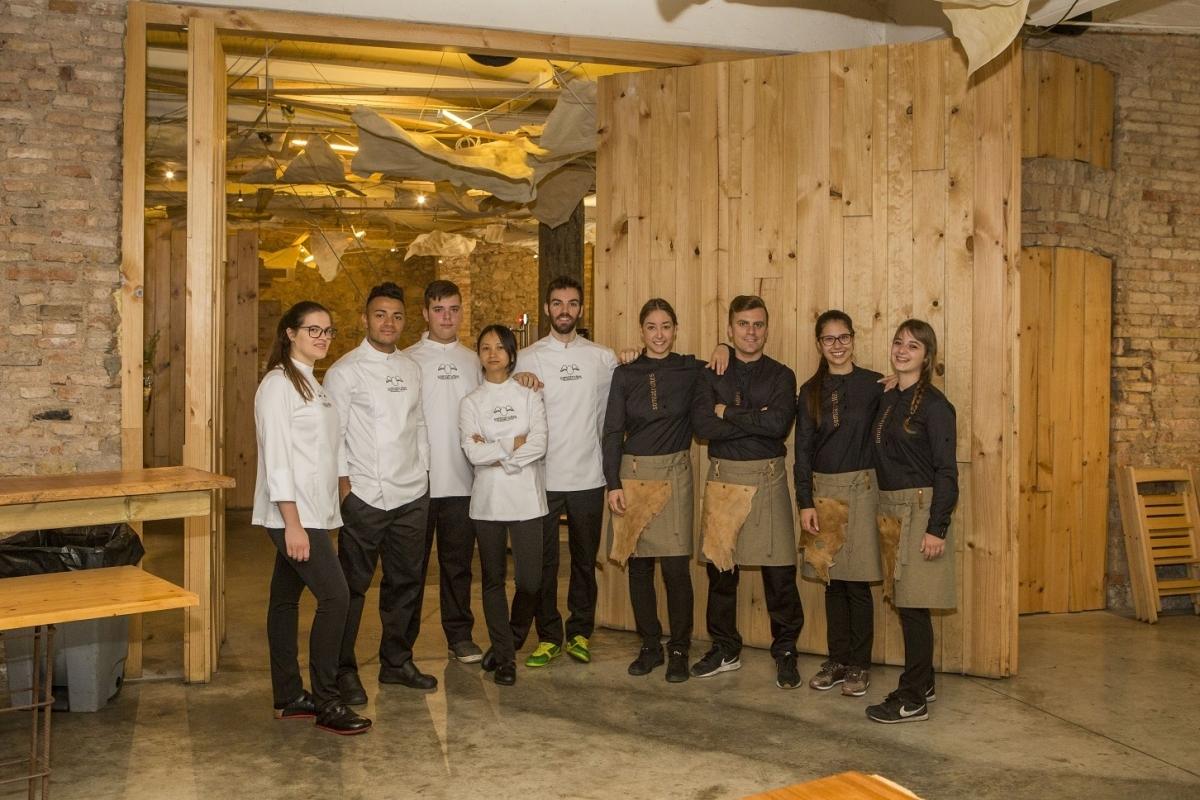 L'equip de la cuina del Somiatruites