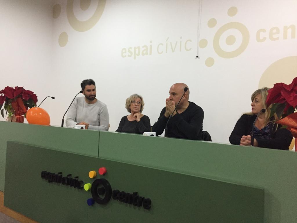La presentació, a l'Espai Cívic Centre